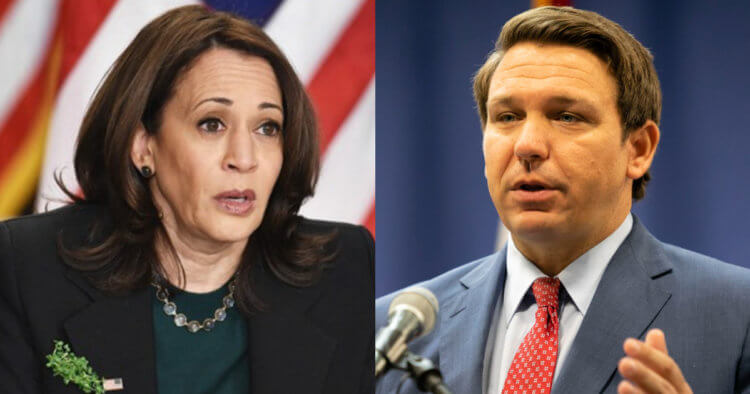 Kamala Arrives in Florida, Says 'Help Is Here.' Here's What DeSantis Said About Administration's 'Help.'